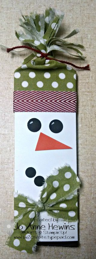 Craft 7 hershey snowman