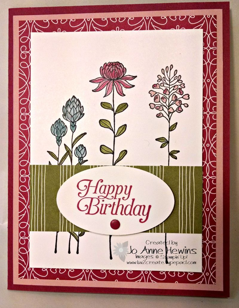 Flowering Fields card
