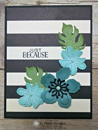 Botanical card front stripe