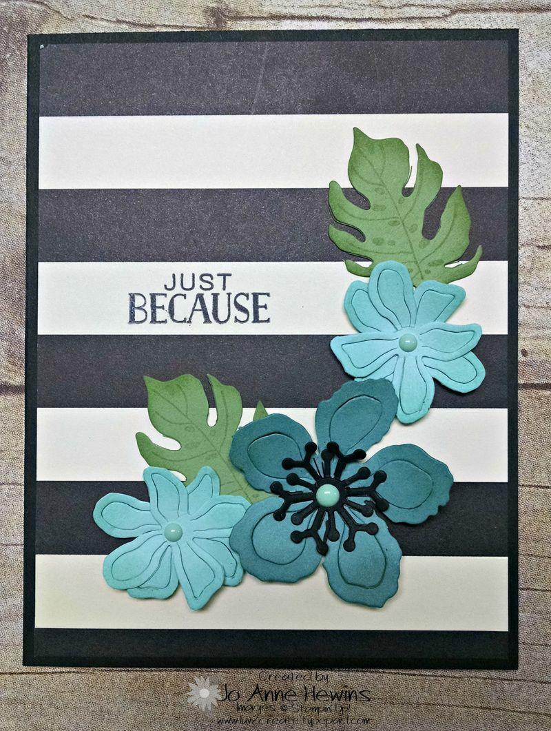 Botanical card front stripe