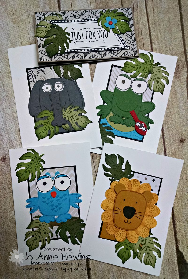 Animal notecards and topper