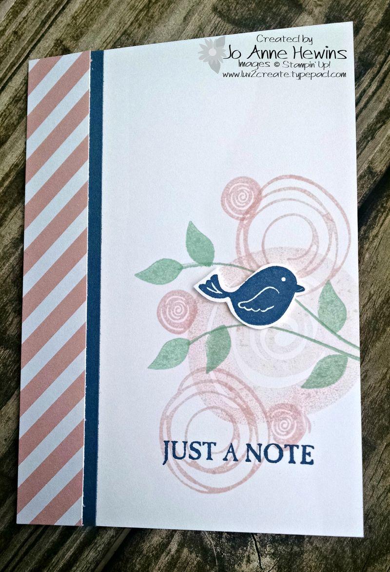 Swirly notecard