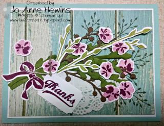 June blog hop spray of flowers