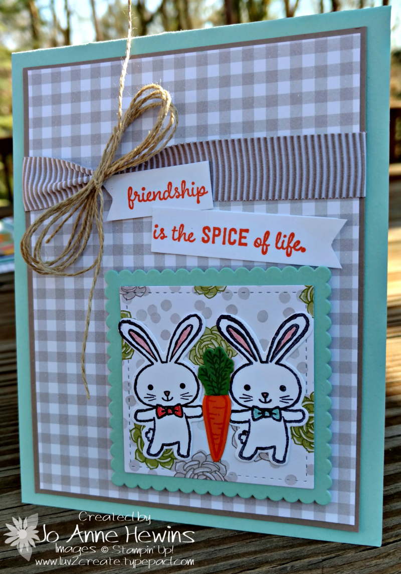 Basket Bunch card from frame square