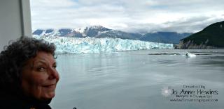 Hubbard Glacier with Jo
