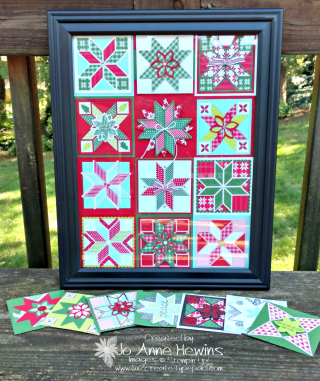 Quilted Christmas square sampler