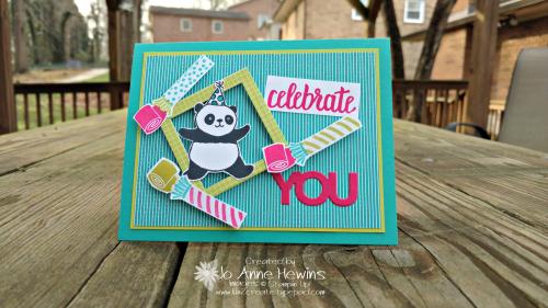 Party Pandas Birthday card