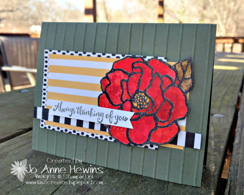 Brusho and a Beautiful Day card