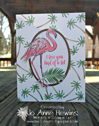 Fabulous Flamingo with Waterfront card