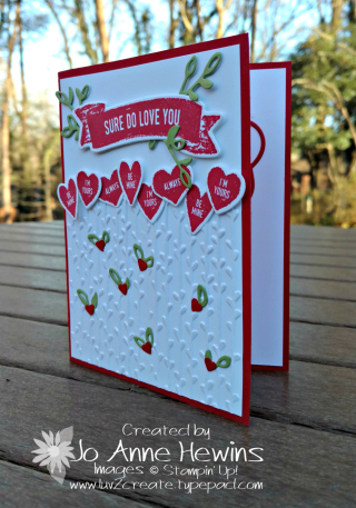Sure Do You Love bundle with Petal Pairs embossing folder Luv 2 Create