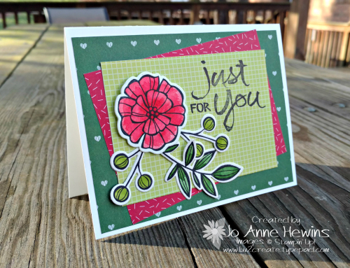 CCMC#497 Falling Flowers card