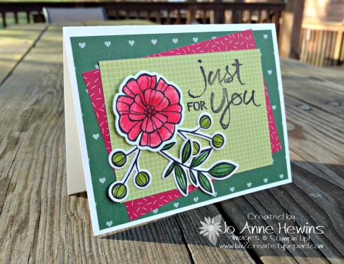 CCMC#497 Falling Flowers card