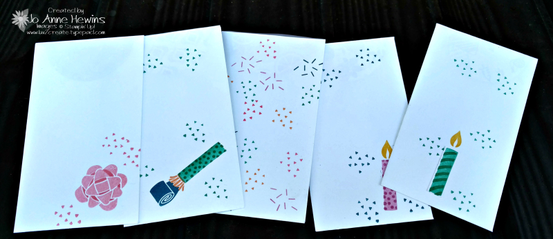 Picture Perfect Birthday narrow cards Luv 2 Create