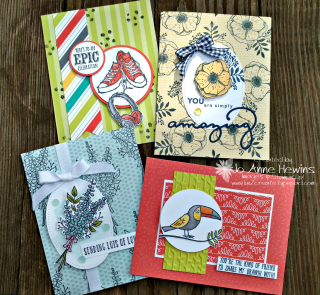Tutti Frutti Cards & Envelopes Luv 2 Create February class.