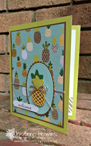 Pineapple card using Tutti Frutti Designer Series Paper by Jo Anne Hewins