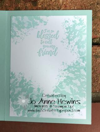 Serene Serenade inside of card   Jo Anne Hewins