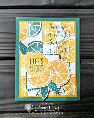 Lemon Zest swap card made by Jo Anne Hewins