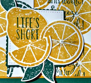 Lemon Zest swap focal point by    Jo Anne Hewins