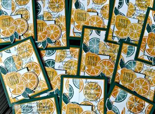 Lemon Zest swap cards Jo Anne Hewins