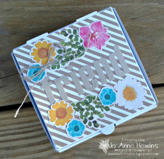 February Paper Pumpkin kit 2018 Jo Anne Hewins with a pizza box