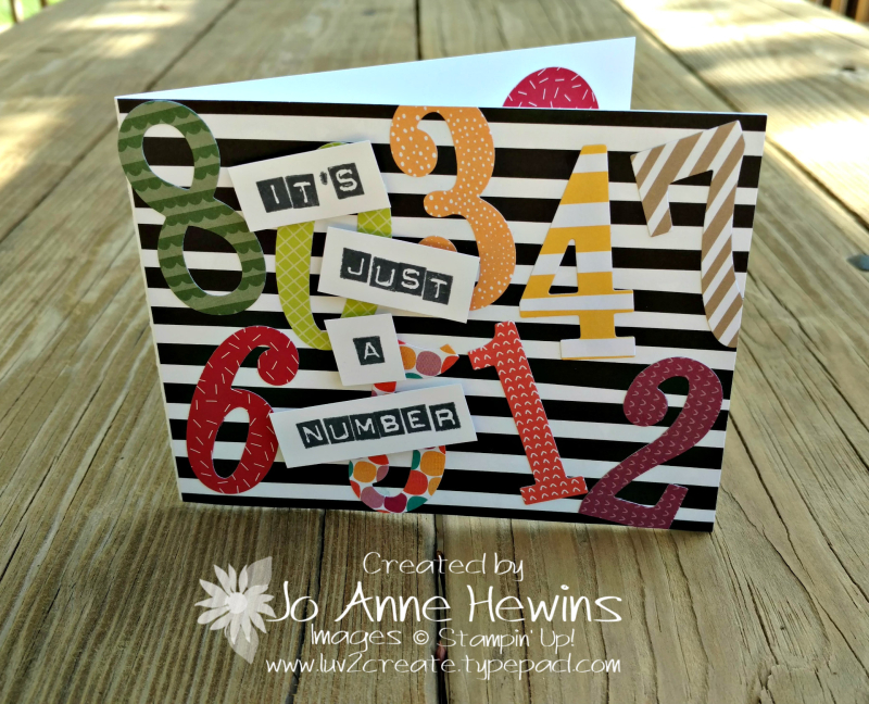 Large Numbers Framelits with Tutti Frutti SDP birthday card by Jo Anne Hewins