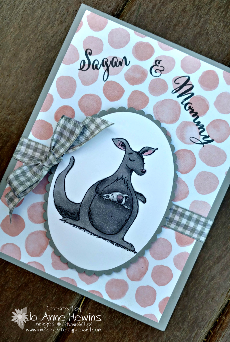 Animal Outing baby mommy card by Jo Anne Hewins for Luv 2 Create