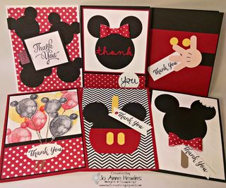 Disney group of cards