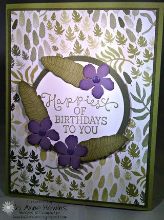 Botanical purple flowers