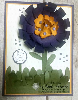 Sunburst flower with dots