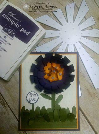 Sunburst flowers with supplies