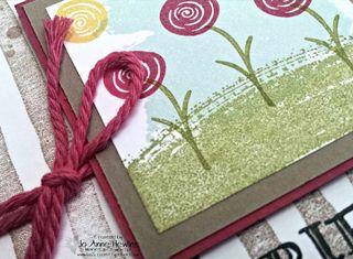 Stripe card close up