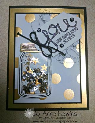 Jar shaker card