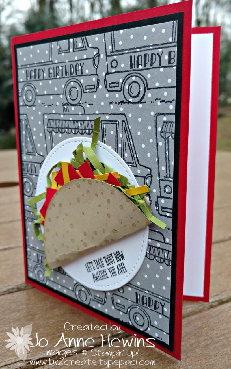 Taco card with Tasty Trucks