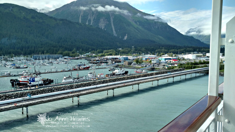 Seward view from the balcony