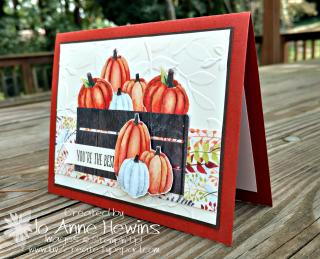 Painted Autumn Pumpkin card