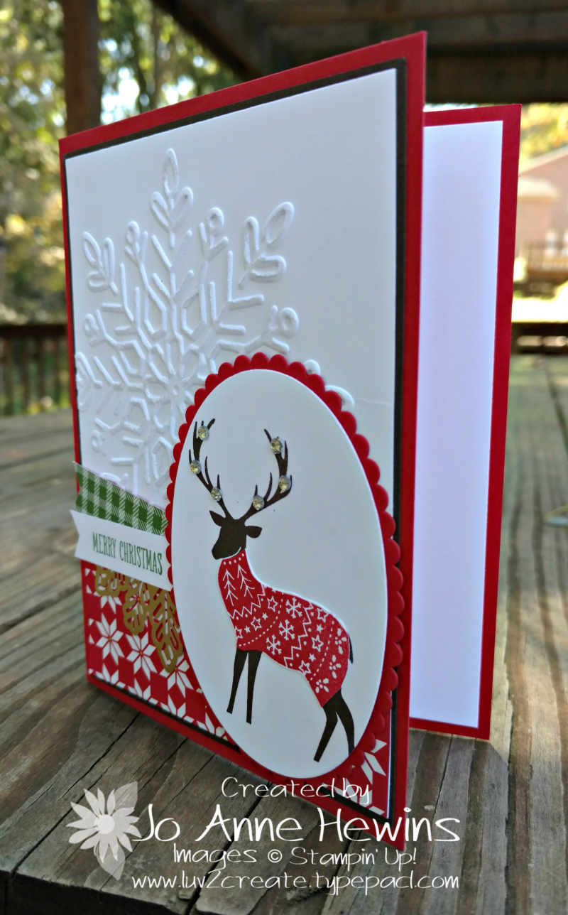 Merry Patterns reindeer card