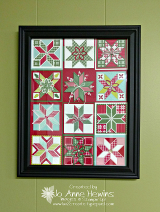Quilted Christmas frame