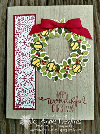 Tennis Christmas card with Wondrous Wreath.