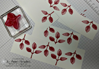 Poinsettia Frame stamped