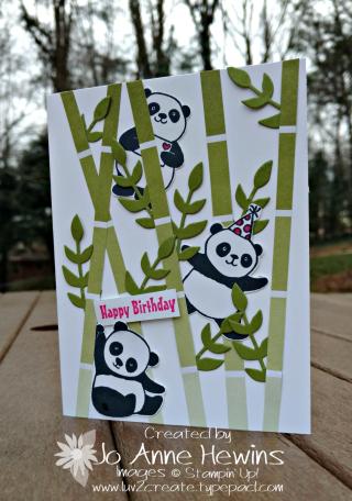 Bamboo Party Pandas card