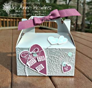 Silver Mini Gable Box Valentine Treat