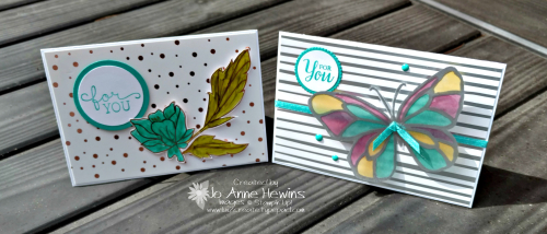 Springtime Foils 2 note cards by Luv 2 Create