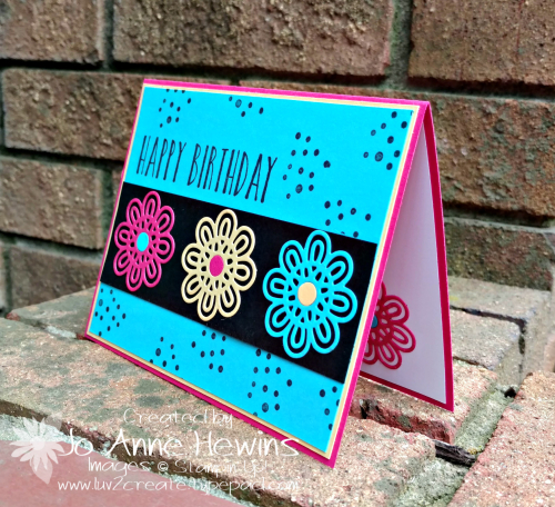 Support Ribbon Framelits card by Jo Anne Hewins