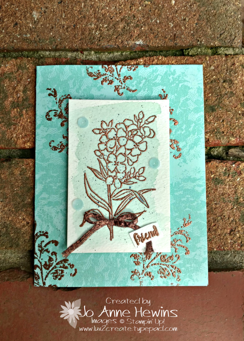 Southern Serenade with Copper Emboss by Jo Anne Hewins