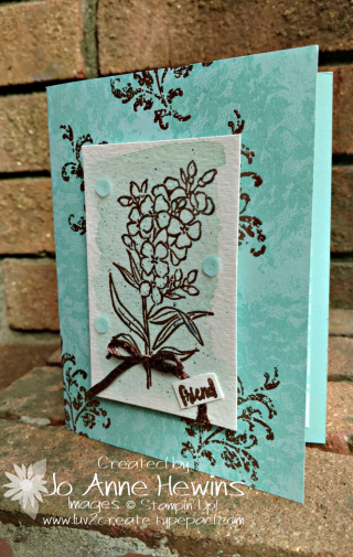 Serene Serenade Copper card by Jo Anne Hewins  Luv 2 Create