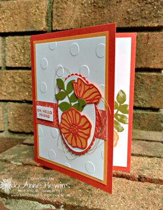 CCMC#505 Oh So Eclectic card by Jo Anne Hewins with Luv 2 Create
