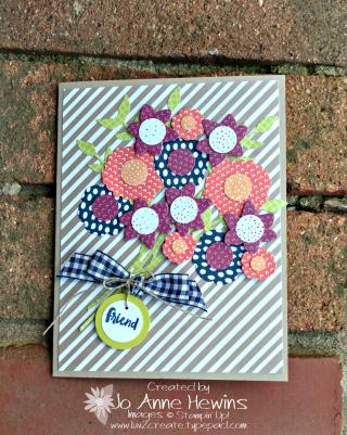 Tutti Frutti Flowers with Bouquet Bunch  Jo Anne Hewins