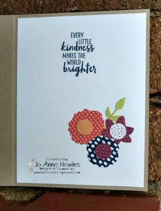 Tutti Frutti Bouquet Bunch Flower card inside by Jo Anne Hewins