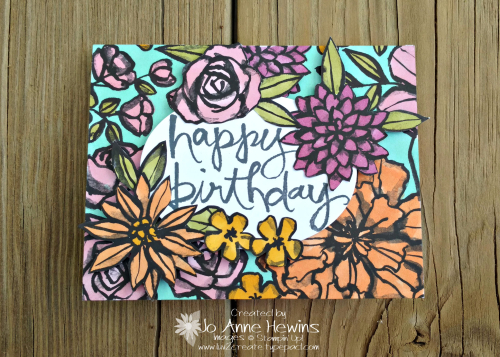 Petal Passion DSP and Watercolor Words by Jo Anne Hewins