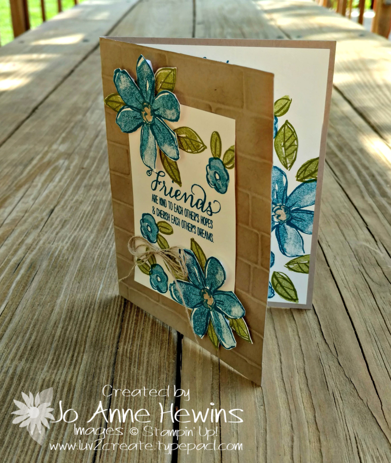 CCMC #507  Garden in Bloom card by Jo Anne Hewins for Luv 2 Create